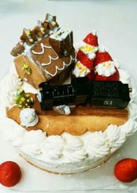 市販のスポンジで子供喜ぶクリスマスケーキ