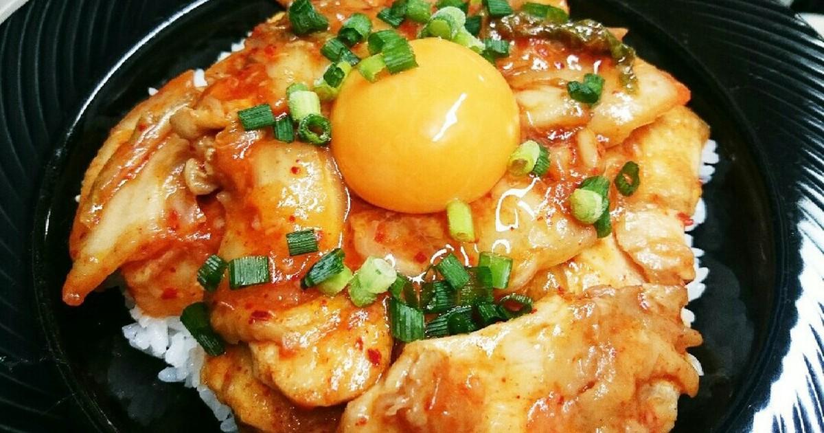 鶏むね肉で☆プリプリ鶏キムチ丼 by 魚釣り大好き