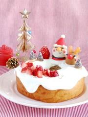 超簡単!バームクーヘン☆クリスマスケーキの写真