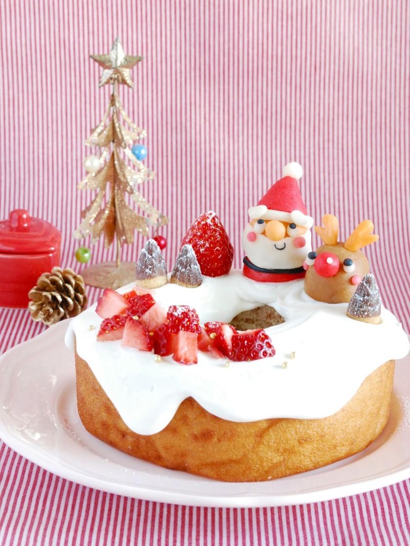 超簡単!バームクーヘン☆クリスマスケーキ