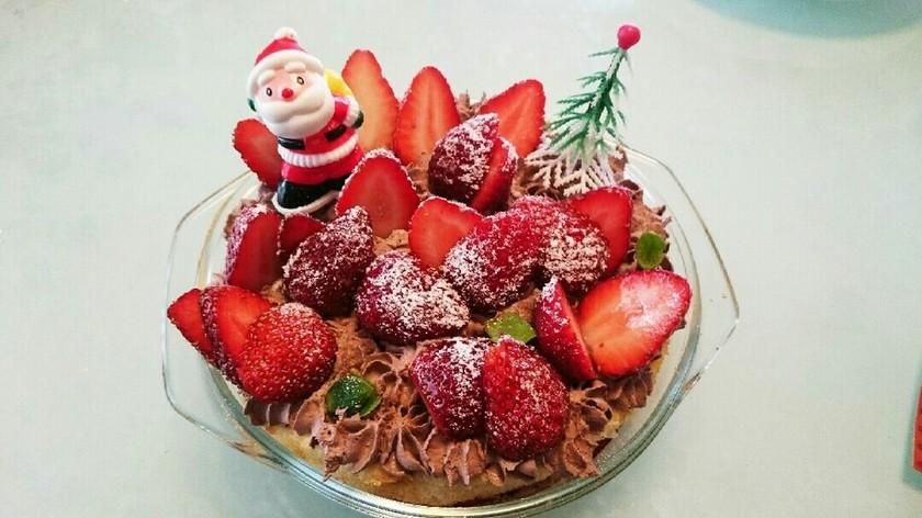 誰でも簡単 クリスマス スコップケーキ
