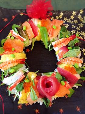クリスマスに☆リース寿司♪