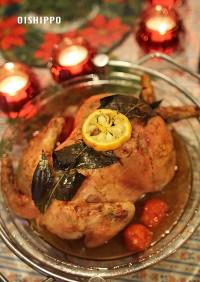 クリスマス丸鶏ローストチキンローリエデコ
