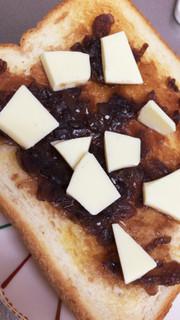 あんことホワイトチョコのあまあまトーストの写真