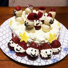 いちごサンタのクリスマスケーキ♡NO3