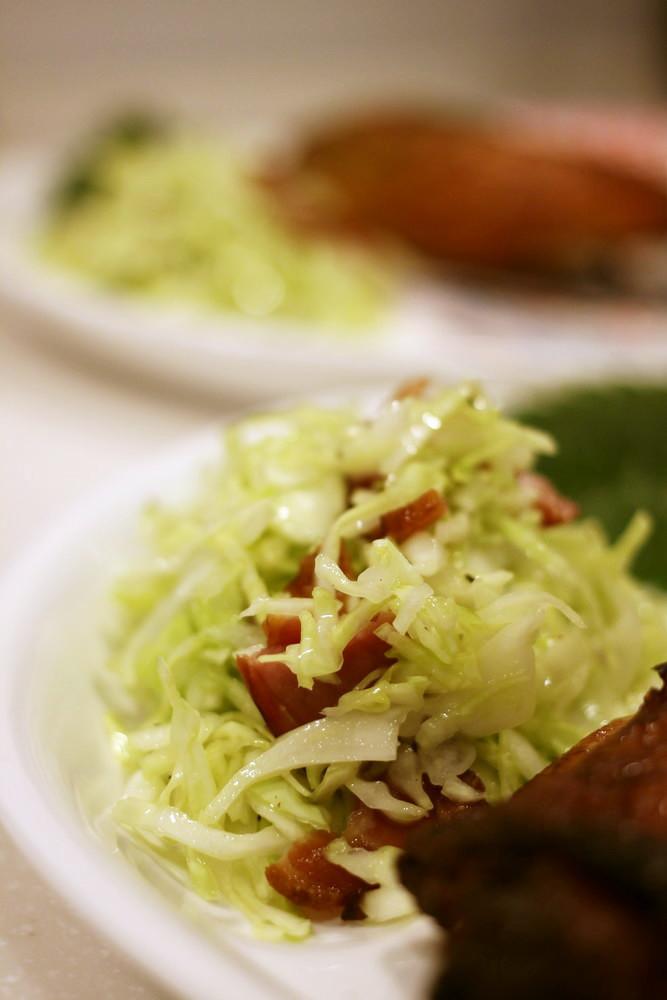 焼豚とキャベツのサラダ♪