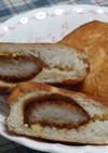 レンチンでパン生地★カツ丼ピロシキ♬