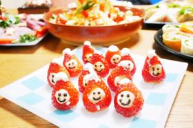 簡単!クリスマスにイチゴのサンタクロース