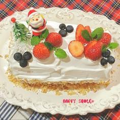 ふわっふわんのクリスマスロールケーキ♡