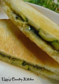 バジル&チーズ☆ホットサンドイッチ