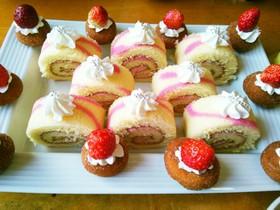 市販のロールケーキデザート