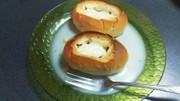 クリスマスデコ♪♪ハムチーズロールの写真