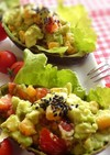 アボガドのお洒落なカップサラダ