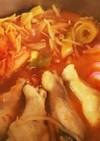 お餅トロリ❗ピリ辛スープのキムチ鍋!