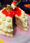 クリスマスケーキ★ハンバーグポテトケーキ