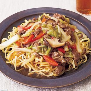 牛肉の野菜たっぷりあんかけ焼きそば