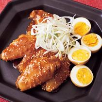 とり手羽とゆで卵のピリ辛韓国風
