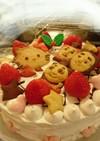 キティちゃんトーマス クッキーケーキ