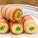 お弁当に★枝豆inちくわのベーコン巻き