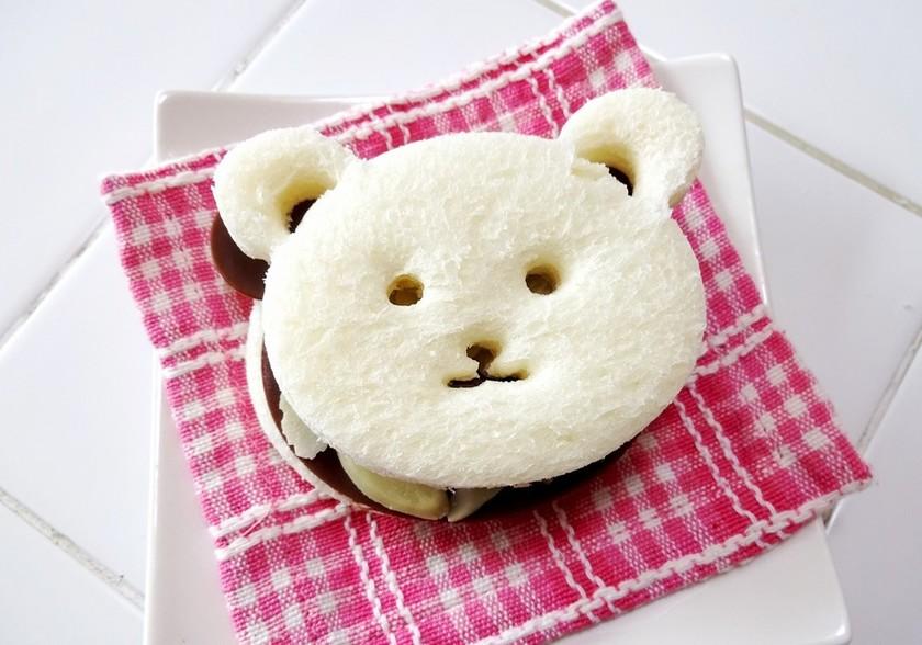 【食パン用抜き型セット】クマチョコサンド
