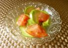 亜麻仁油のアボカドトマトサラダ