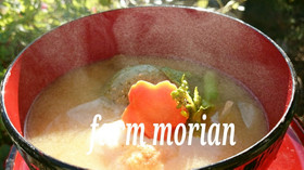 お雑煮❤お味噌汁におもち入れちゃお♪