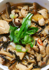 簡単❁鶏ささみと きのこ ひじきの甘酢煮
