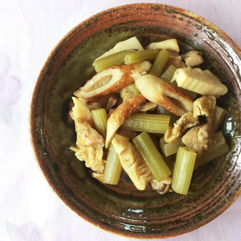 ふきと筍などの煮物