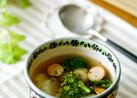 蕪と菜の花のコンソメスープ
