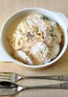 鶏ハムと豆乳明太クリームパスタ