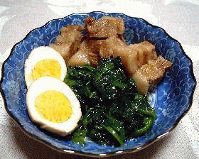 豚ばら肉と卵の煮物