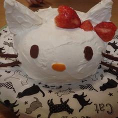 キティちゃんのプリンdeドームケーキ