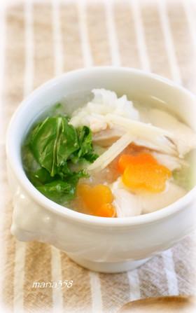 かぶと鶏むね肉のとろとろスープ