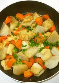 里芋の親芋と油揚げの炒め煮♪簡単