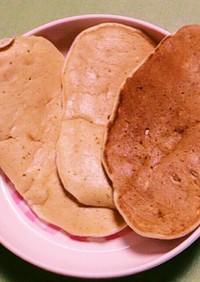簡単離乳食☆栗とバナナの手持ちパンケーキ