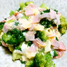 中華風!たまごとハム餡のブロッコリー