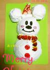 クリスマス ケーキ ミッキー 作り方