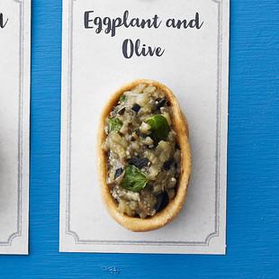 なすとオリーブのミント風味タルト