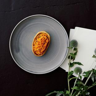 にんじんとレンズ豆のクミン風味タルト