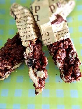 乾パンでザックザク食感のチョコバー