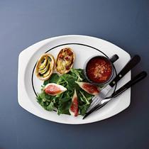 タルトに合うスープとサラダ