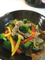 豚肉とブロッコリーのピリ辛中華炒めの写真