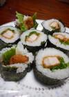 節分の恵方巻に◇とんかつ巻寿司