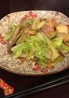 白菜とヒラタケのベーコンバター炒め