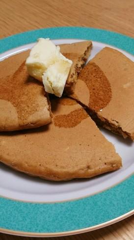 きな粉とバナナ入りホットケーキ♥