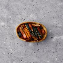 ベーコンとかぼちゃタルト