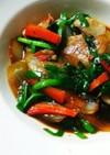 ニラと豚バラ肉の中華炒め