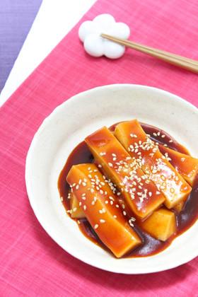 余ったお餅で♪韓国トッポッキ風アレンジ☆