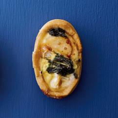 ホタテとルッコラとカマンベールの豆乳キッシュ風タルト