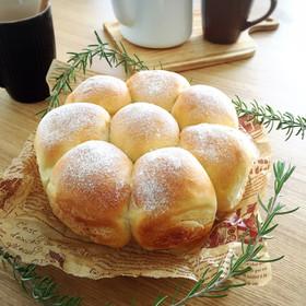ラウンド型で手ごねのちぎりパン